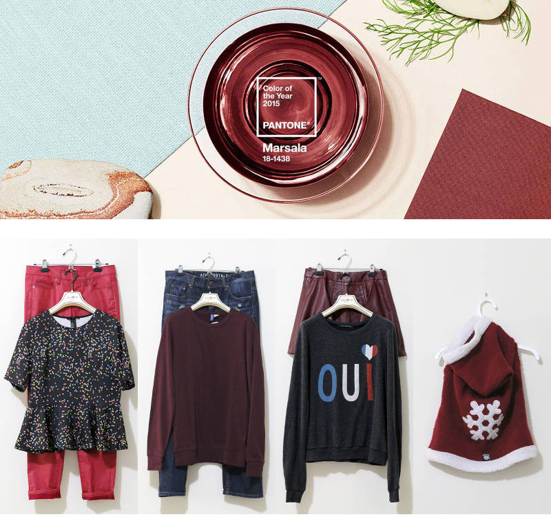 Marsala, Pantone Color of the Year 2015, Stylish Picks, Style Inspiration, outfits