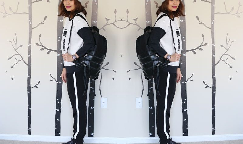 Game Day outfit, athletic trend, black and white, sporty look, outfit, #styleanthropy, style, fashion