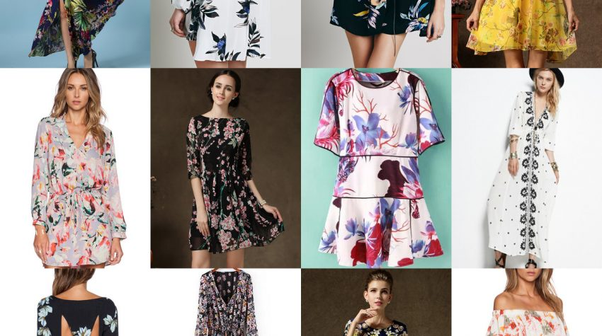 Floral dress, flower prints, botanical, Sheinside, dresses