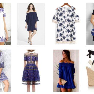 style picks, blue, dresses, accessories, fashion