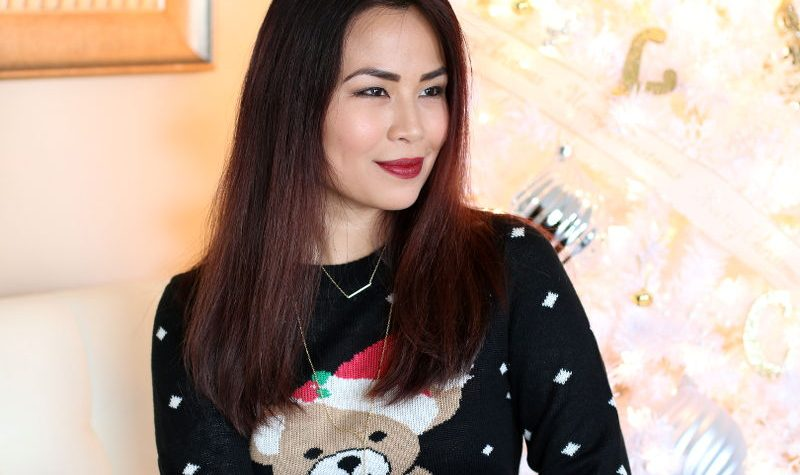 Tipsy Elves Christmas Sweater Dress Teddy Bear