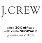 President's Day Sales, J Crew sale