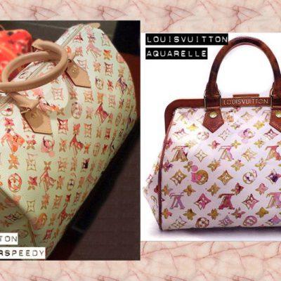 Watercolor speedy, aquarelle, Louis Vuitton bags
