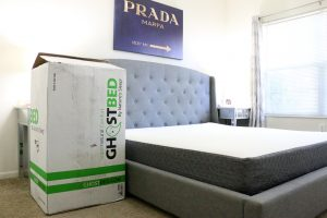 GhostBed mattress, bed review, unboxing