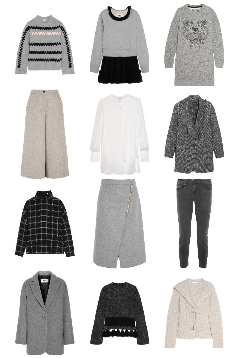 Neutral and gray clothes, sale, net-a-porter, designer