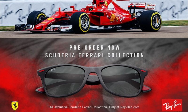 Ray-Ban Scuderia Ferrari Collection sunglasses, Formula 1, F1