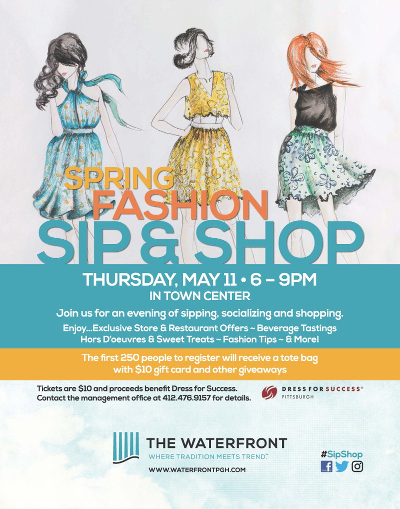 Sip and Shop, The Waterfront, shopping center, Pittsburgh, events