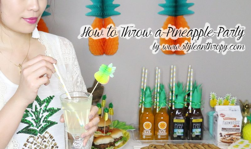 How to throw a pineapple party, entertaining, summer party, grilling, hosting, food drinks, pineapple theme, tropical theme