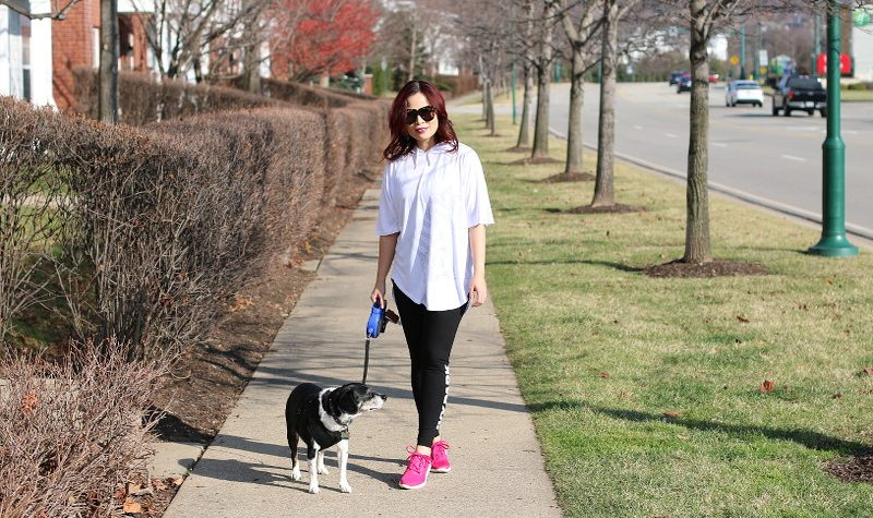 Fitness friday look, activewear, leggings, adidas pureboost shoes, ivy park