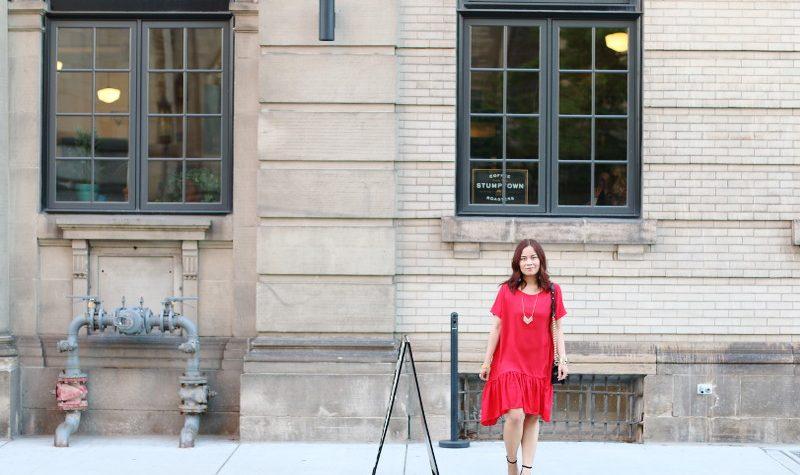 Romwe Red Dress