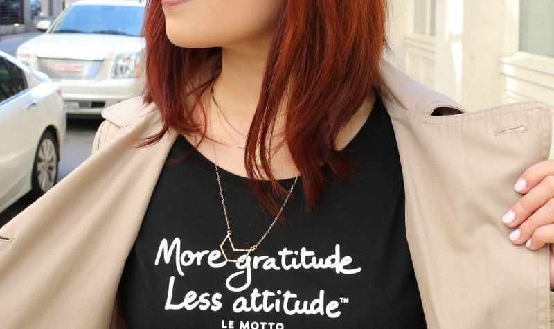 More Gratitude Less Attitude, shirt, le motto, tee