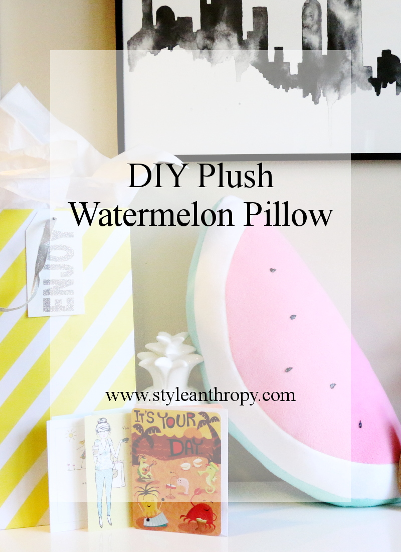 DIY Plush Watermelon Pillow