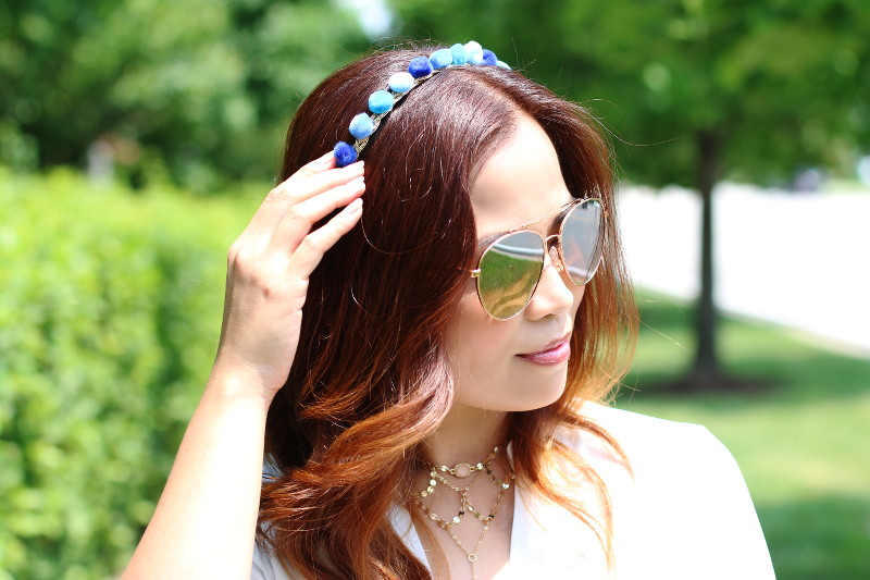 DIY Pompom Headband + New Summer Hair Color