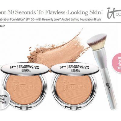 IT Cosmetics Supersize Celebration Foundation + Heavenly Brush