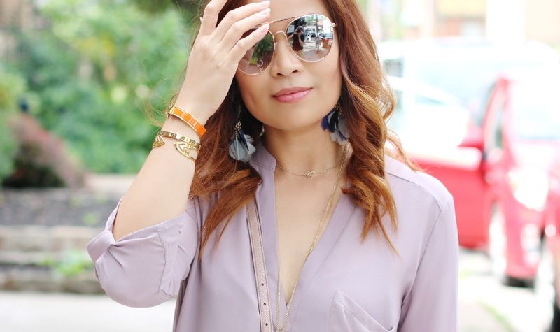 Orchid Top, Mirrored Sunglasses