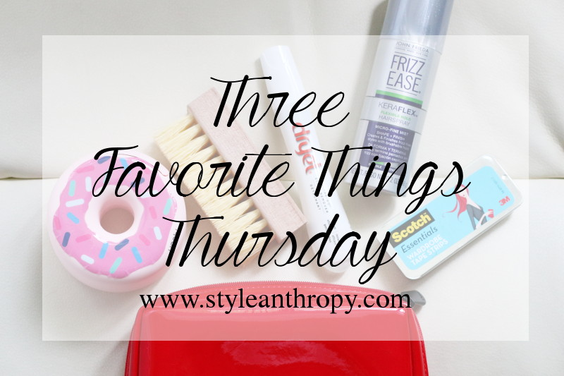 3 Fave Things Thursday: Fashion Emergency Kit