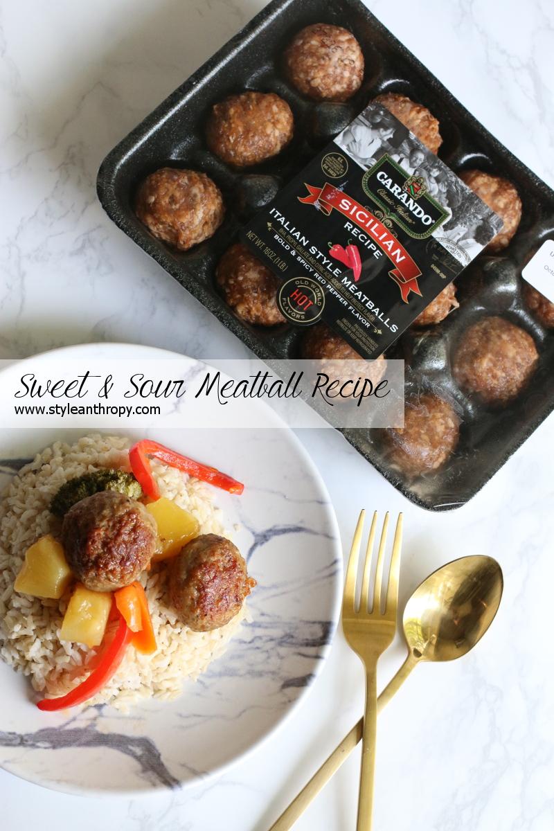 Sweet and Sour Carando Meatballs Recipe
