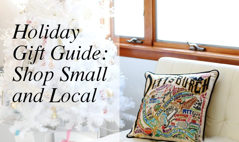 Holiday Gift Guide Pittsburgh, Local, Small Businesses, pittsburgh pillow, christmas tree