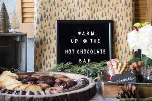Holiday Party Idea: Hot Cocoa Bar + Cookie Decorating