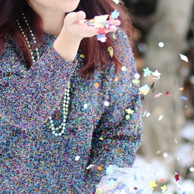 Sparkly Sequins Confetti Sweater, NYE outfit