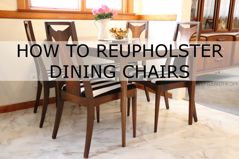 Kitchen Nook Reupholster DIning Chairs