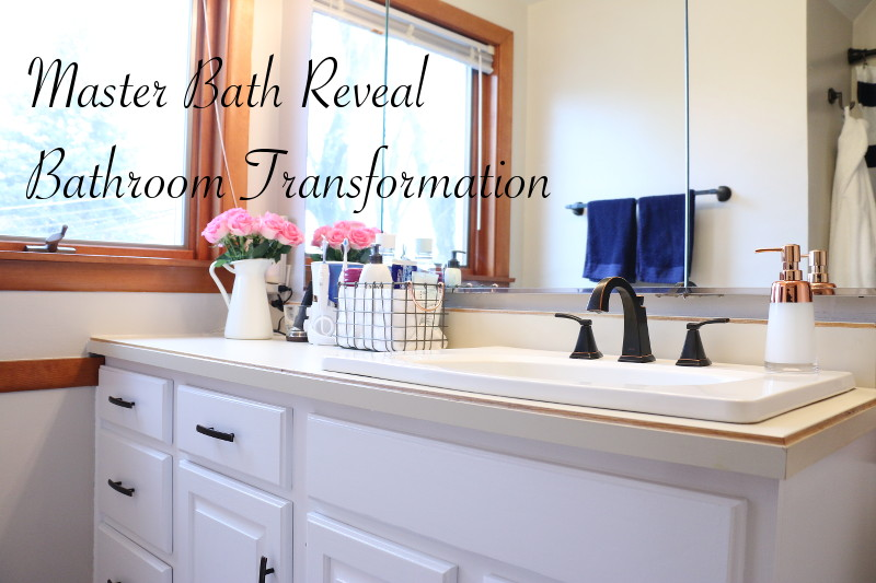 master bathroom reveal, home improvement, DIY bathroom renovation, bath refresh