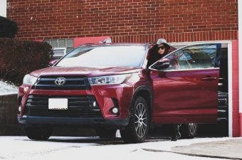 snow, ski, Toyota Highlander SE, SUV, car