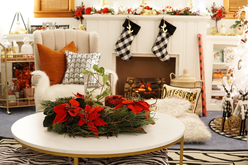 Living Room Holiday Decor With Nearly Natural Styleanthropy
