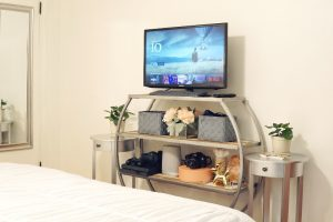 After Master Bedroom Tv Stand Silver Shelf Styleanthropy