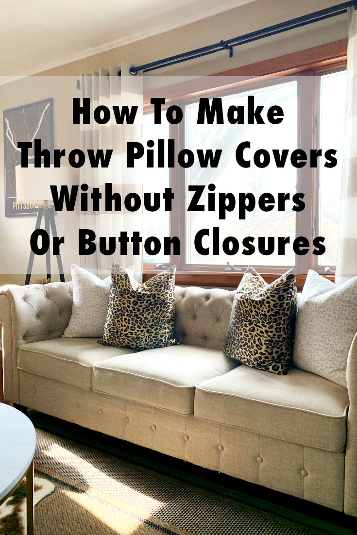 How To Repurpose Flat Sheet To A New Throw Pillow Cover Styleanthropy